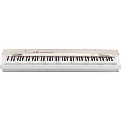 【長期保証付】CASIO コンパクトデジタルピアノ Privia(プリヴィア) 電子ピアノ 88鍵盤 PX-160-GD(シャンパンゴールド調)