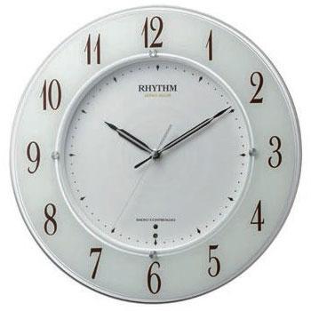 リズム時計 4MY847SR03(白半艶仕上/白) スリーウェイブM847 電波掛け時計