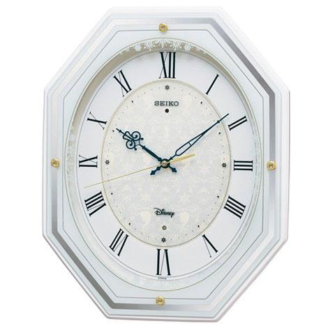 セイコー FS 505W(白塗装) アナと雪の女王 電波掛け時計