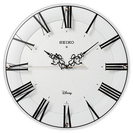 セイコー FS 506W(白塗装) ミッキー&ミニー 電波掛け時計