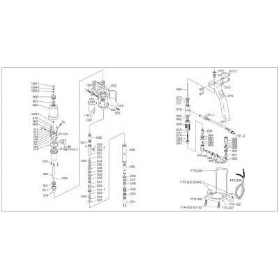 トラスコ中山 FTR-008 FTR65G用 シリンダー