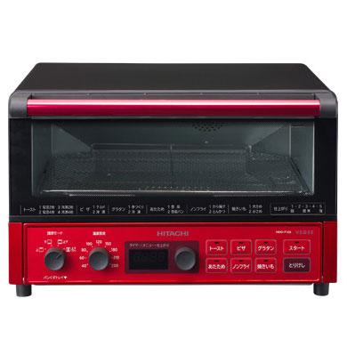 日立 HMO-F100-R(メタリックレッド) コンベクションオーブントースター 1300W
