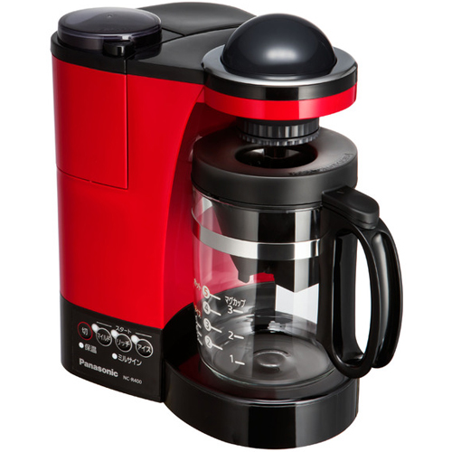 【長期保証付】パナソニック NC-R400-R(レッド) ミル付き浄水コーヒーメーカー