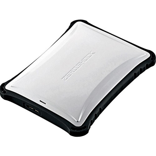 エレコム ELP-ZS010UWH(ホワイト) ZEROSHOCK ポータブルHDD 1TB USB3.0接続 耐衝撃