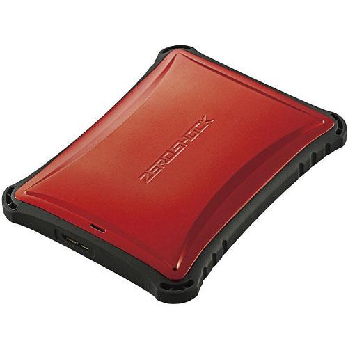 エレコム ELP-ZS010URD(レッド) ZEROSHOCK ポータブルHDD 1TB USB3.0接続 耐衝撃