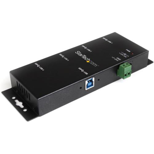 StarTech ST4300USBM(ブラック) ウォールマウント対応4ポートUSB3.0ハブ メタルケース