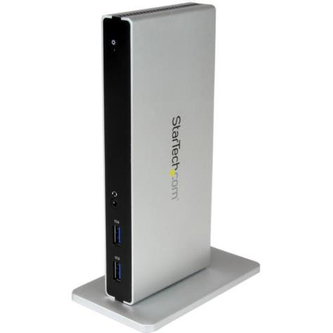 StarTech USB3SDOCKDD(ブラック&シルバー) ノートPC用ドッキングステーションUSB3.0
