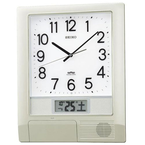 セイコー PT201S(銀色メタリック塗装) 電波掛け時計