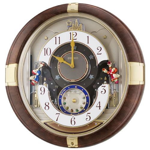 セイコー RE816B(茶マーブル模様光沢) 掛け時計