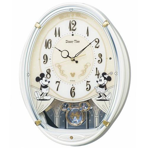 セイコー FW579W(白パール) DISNEY(ディズニー) 電波掛け時計