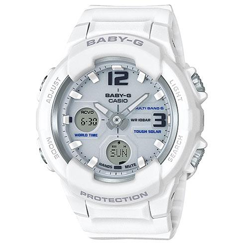 【長期保証付】CASIO BGA-2300-7BJF(ホワイト) BABY-G(ベイビージー) ソーラー レディース