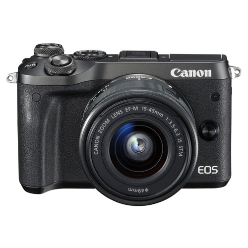 【長期保証付】CANON EOS M6 EF-M15-45 IS STM レンズキット(ブラック)