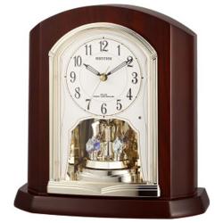 リズム時計 4RY702SR06(茶色半艶仕上) パルロワイエR702SR 電波置時計