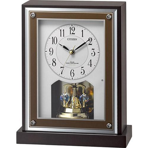 シチズン 8RY413-006(茶色半艶仕上) 8RY413-006 電波置時計