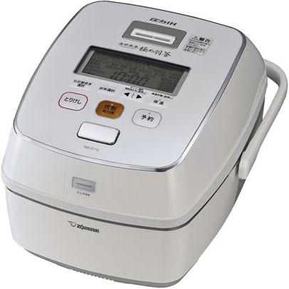【長期保証付】象印 NW-AT10-WZ(プライムホワイト) 極め炊き 圧力IH炊飯ジャー 5.5合