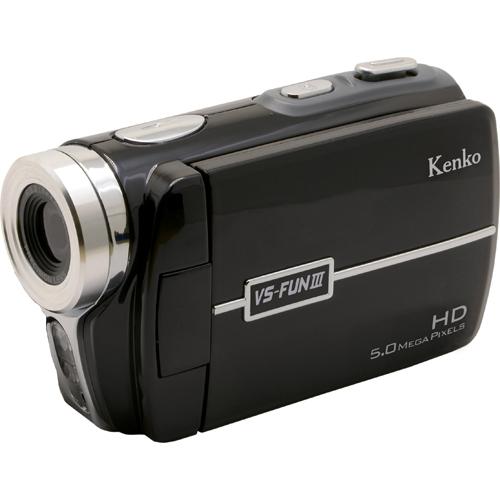 ケンコー Kenko コンパクト軽量ハイビジョンデジタルビデオカメラ VS-FUN III 単4形アルカリ乾電池駆動/デジタル8倍ズーム搭載/LEDライト搭載/551万画素