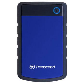 トランセンド TS4TSJ25H3B(ネイビーブルー) ポータブルHDD 4TB USB 3.1 Gen 1接続 耐衝撃