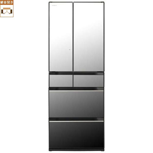 【標準設置料金込】【長期保証付】【送料無料】日立 R-HX60N-X(クリスタルミラー) HXシリーズ 6ドア冷蔵庫 観音開き 602L[代引・リボ・分割・ボーナス払い不可]