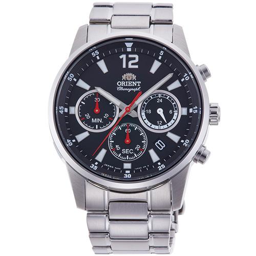 オリエント RN-KV0001B(ブラック) スポーティー クオーツ 腕時計(メンズ)