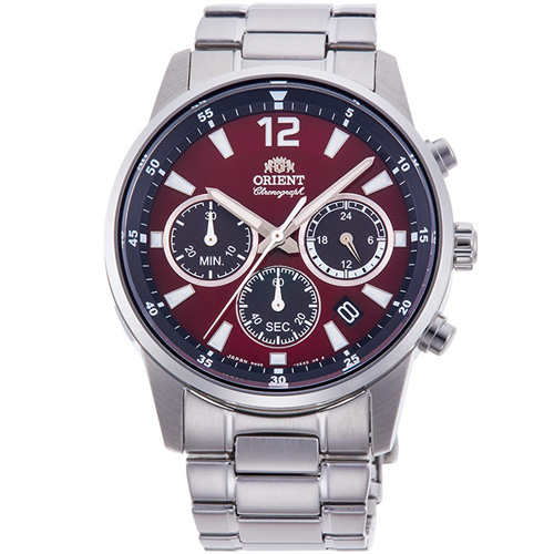 オリエント RN-KV0003R(ワインレッド) スポーティー クオーツ 腕時計(メンズ)