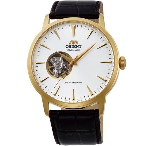 【長期保証付】オリエント RN-AG0012S スタンダード セミスケルトン 機械式時計 (メンズ)