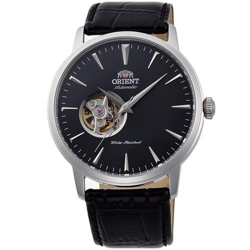 【長期保証付】オリエント RN-AG0013B スタンダード セミスケルトン 機械式時計 (メンズ)