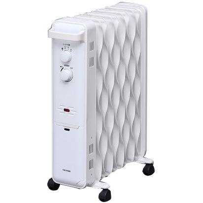 【長期保証付】アイリスオーヤマ KWOH-120C-W(ホワイト) ウェーブ型オイルヒーター 1200W