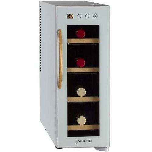 【設置+リサイクル+長期保証】デバイスタイル CE-4W-W(ホワイト) ペルチェ方式4本収納用ワインセラー