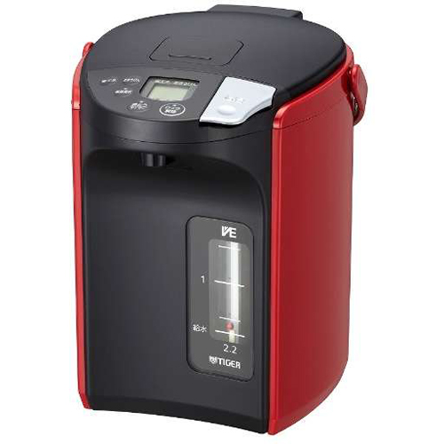 タイガー魔法瓶 PIP-A220-R(レッド) とく子さん 蒸気レス VE電気まほうびん 2.2L