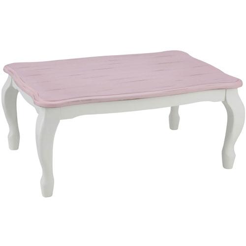 ユアサプライムス キャサリン960-PK(ピンク) 家具調こたつ 90×60cm