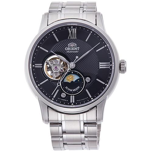 【長期保証付】オリエント RN-AS0001B コンテンポラリーコレクション セミスケルトン 機械式時計 (メンズ)