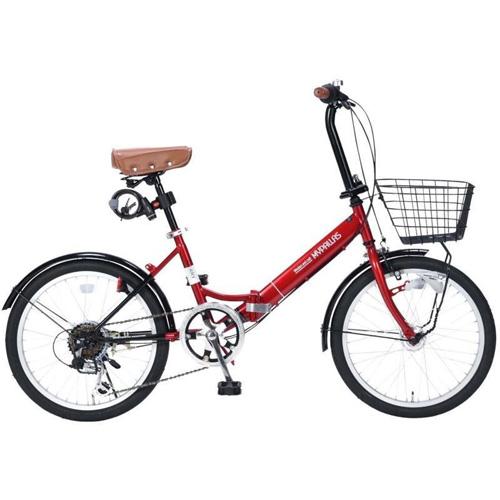 マイパラス 20インチ 折畳自転車20・6SP・オートライト M-204-RD(レッド)