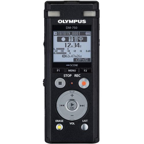 在庫あり 14時までの注文で当日出荷可能 オリンパス DM-750 BLK Voice-Trek ブラック ICレコーダー 上等 4GB 人気 おすすめ