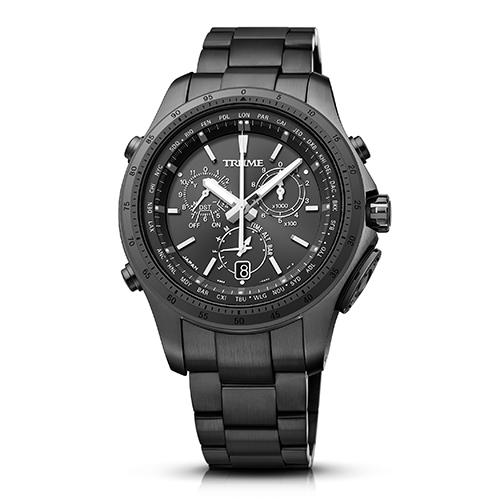 【長期保証付】エプソン TR-MB5002(ブラック) TRUME ソーラー 腕時計(メンズ)
