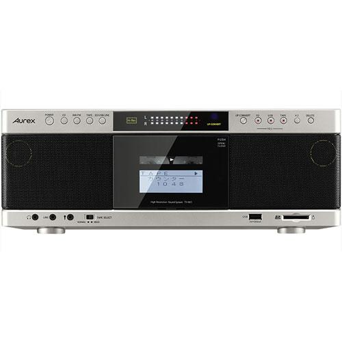 東芝(TOSHIBA) ハイレゾ対応SD/USB/CDラジオカセットレコーダー(サテンゴールド) Aurex TY-AK1-N