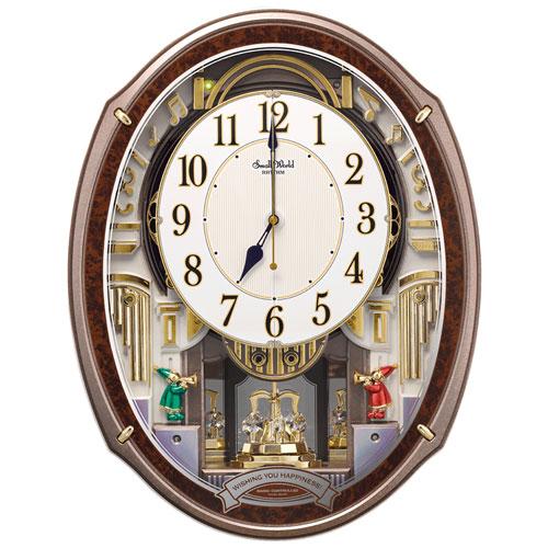 リズム時計 4MN545RH23 スモールワールドアルディ からくり時計