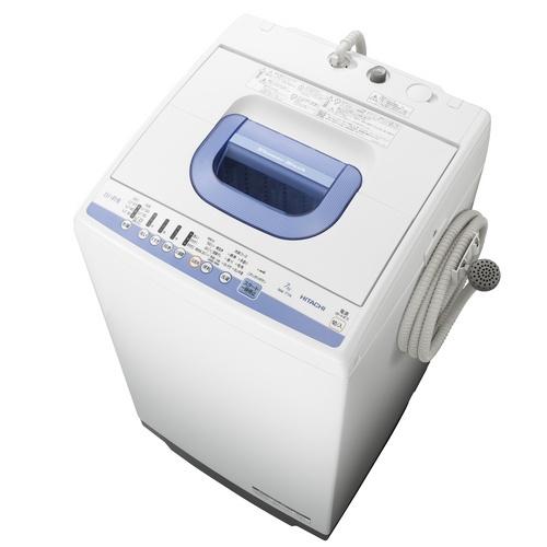 【設置+長期保証】日立 NW-T74-A(ブルー) 白い約束 全自動洗濯機 洗濯7kg