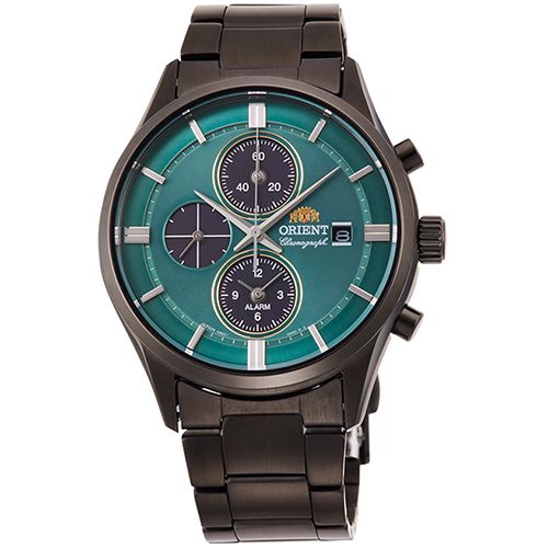 【長期保証付】オリエント RN-TY0001E(グリーン) コンテンポラリー ライトチャージ 腕時計 メンズ