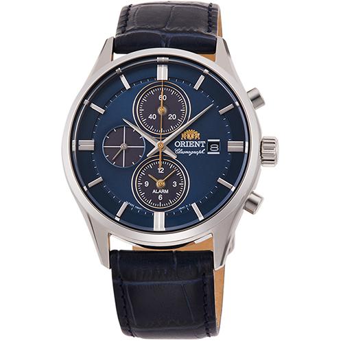 【長期保証付】オリエント RN-TY0004L(ネイビー) コンテンポラリー ライトチャージ 腕時計 メンズ