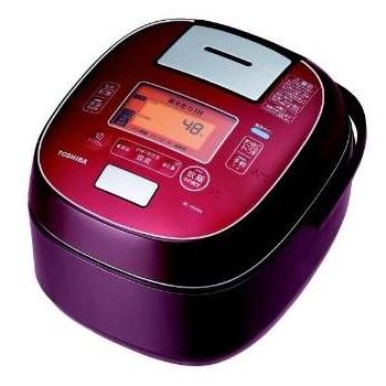 【長期保証付】東芝 RC-18VSM-RS(ディープレッド) 合わせ炊き 真空圧力IHジャー炊飯器 1升