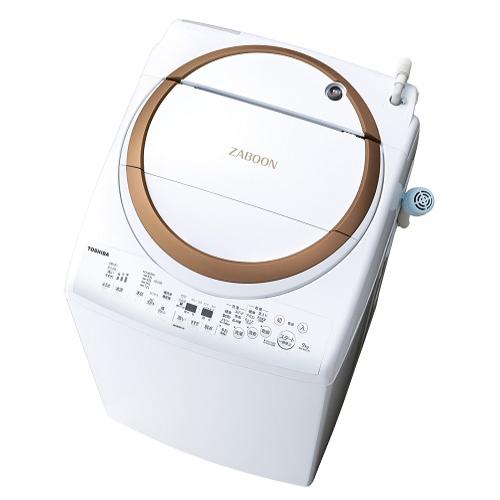 【設置+リサイクル】東芝 AW-9V7-T(ブラウン) タテ型洗濯乾燥機 上開き 洗濯9kg/乾燥4.5kg