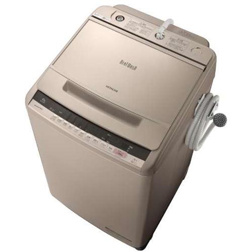 【設置】日立 BW-V100C-N(シャンパン) ビートウォッシュ 全自動洗濯機 上開き 洗濯10kg