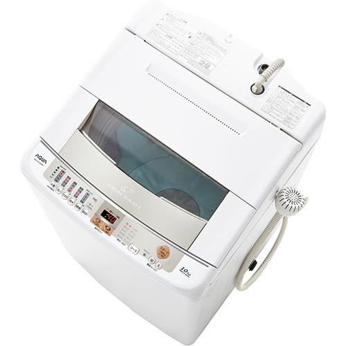 【設置】アクア AQW-VW100G-W(ホワイト) 全自動洗濯機 上開き 洗濯10.0kg