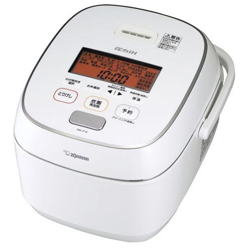 【長期保証付】象印 NW-JT18-WA(ホワイト) 極め炊き 圧力IH炊飯ジャー 1升