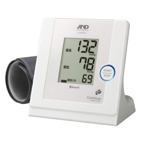 【長期保証付】A&D UA-851PBT-C-W(ホワイト) Bluetooth内蔵 パーソナル血圧計