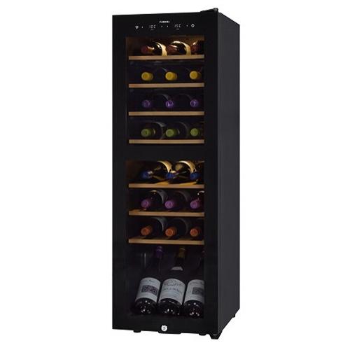 【設置+リサイクル】さくら製作所 SAB90G(ピュアブラック) FURNIEL ワインセラー 93L 24本収納 右開き