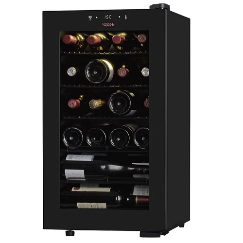 【設置+リサイクル】さくら製作所 SB22(ブラック) ZERO CLASS Smart ワインセラー 55L 22本収納 右開き