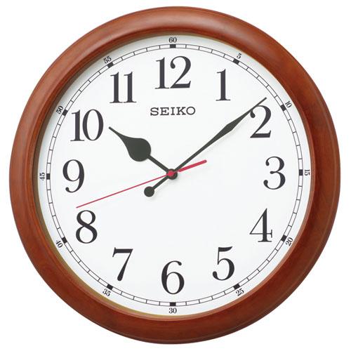 セイコー KX238B(茶木地) オフィスタイプ 電波掛時計