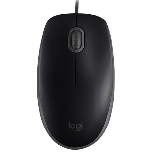 【在庫あり】14時までの注文で当日出荷可能! ロジクール M110SBK(ブラック) 静音マウス 有線 USB光学マウス 3ボタン