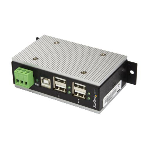 StarTech HB20A4AME 4ポート産業用USB 2.0ハブ 15kV ESD